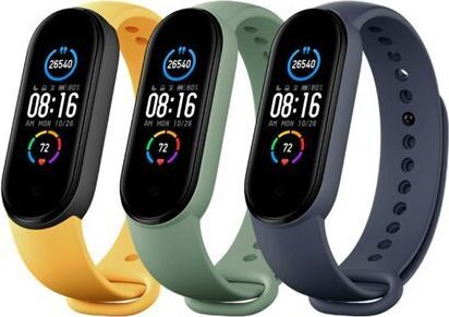 Xiaomi Mi Smart Band 5 Strap (3-pack) (Blue, Yellow, Green) 1